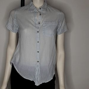 Toad &Co Organic striped shirt sz xs